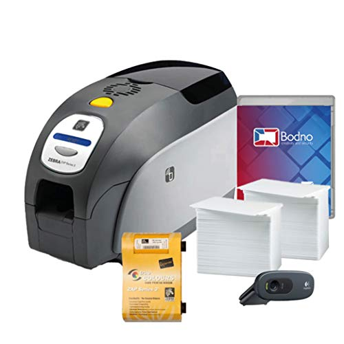 Zebra ZXP Series 3 Dual Sided ID Card Printer & Complete Supplies Package with Bodno Bronze Edition ID Software