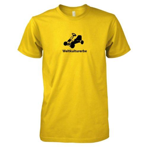 Texlab - Weltkulturerbe Tretauto - Herren T-Shirt, Größe XXL, gelb