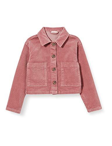 Name It NKFCETORGANIC Cord Jacket CP Camp Giacca, Rosa Antico, 140 cm Bambina