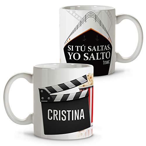LolaPix Taza de café Personalizada. Regalos con Frases de Cine. Tazas Personalizadas con Nombre. San Valentín, Parejas y Enamorados. Titanic