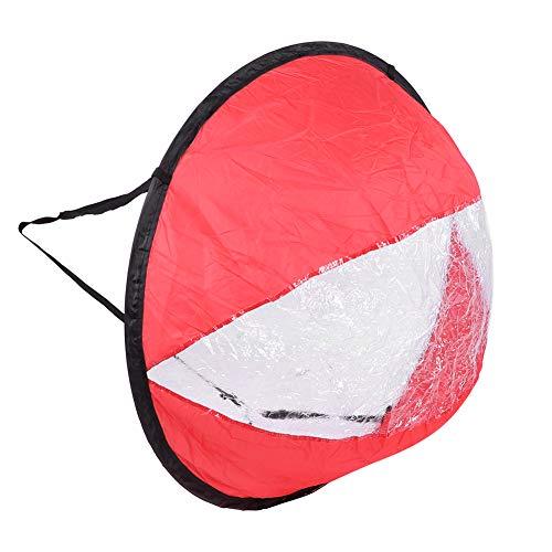 ROMACK Vela del Viento del Kayak del tafetán del poliéster fácil de Fijar, para el Equipo Inflable(Rojo)