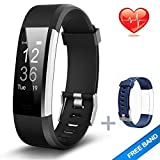Lintelek Fitness Armband Herzfrequenzmesser Fitness Tracker Plus HR Sport Uhr Bracelet Spritzwasser geschützt