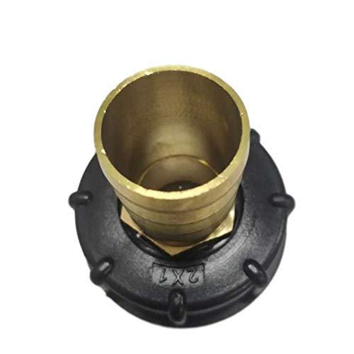 Pilang Zxxin-Accesorios de tuberia Latón S60 * 6 Durable Jardín Manguera del Grifo de Almacenamiento, la Manguera de la válvula del Grifo de Accesorios de Tanque Conector (Color : 32mm)