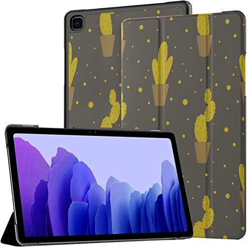 Funda de piel sintética para Samsung Galaxy Tab A7 de 10,4 pulgadas de 2020, diseño de cactus, color verde