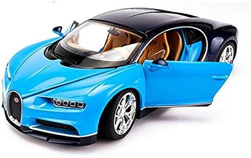 JXJJD 1 24 modèle de Voiture de Sport Bugatti modèle de Voiture Simulation Alliage modèle de Voiture OrneHommests, MultiCouleure en Option (Couleur   bleu)