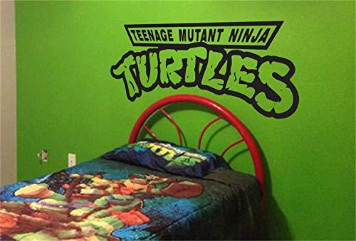 Ziues Wall Stickers Design Art Words Sayings Removable Lettering Teenage Mutant Ninja Turtles for Teen Boys Room