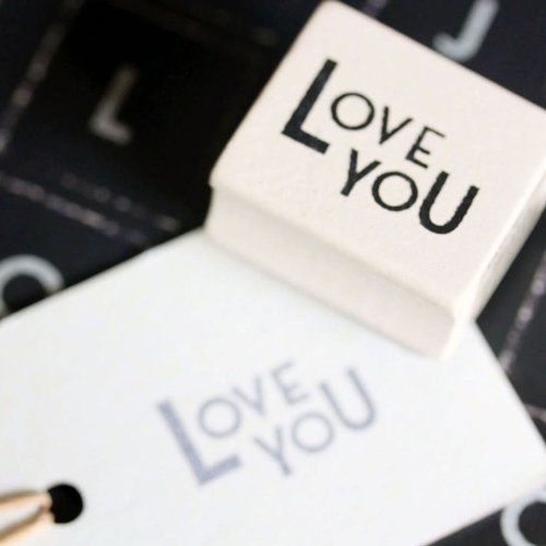 East of India Love You Rubber Stamp
