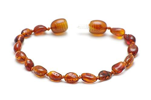 Premium Amber Bracelets/Amber Anklets Certified Genuine Baltic Amber Beads 13.5cm