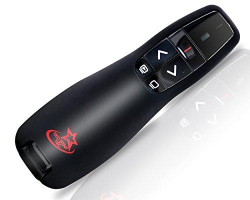 Red Star Tec Wireless Powerpoint and Keynote Presentation Remote Clicker PR-819 (Black, 1 Pack)