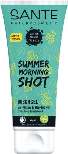 SANTE Duschgel Summer Morning Shot Bio-Minze & Bio-Ingwer, 200 ml