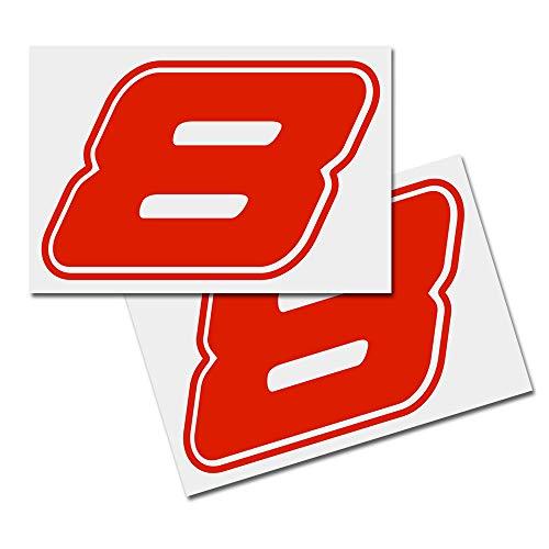 Sticker, cijferstickers, startnummer, vuilnisbakken stickers set van 2, rood