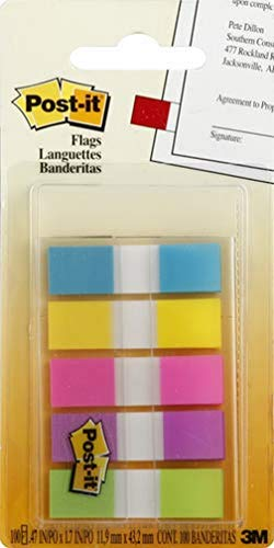 Post-It 6835CBEU - Dispensador de banderitas separadoras adhesivas, varios colores