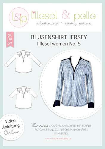 lillesol & pelle Schnittmuster lillesol Women No.5 Blusenshirt Jersey in Größe 34-50 zum Nähen mit Foto-Anleitung und Video