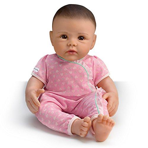 The Ashton - Drake Galleries Ashton Drake So Truly Mine Baby Girl Doll for Kids: Black Hair Brown Eyes