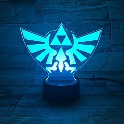 Juego The Legend Of Zelda Logo Lámpara De Mesa Lámpara Decorativa Sensor Táctil Niño Niño Regalo De Cumpleaños Luz Nocturna Luz Nocturna Led Dormitorio A-1836