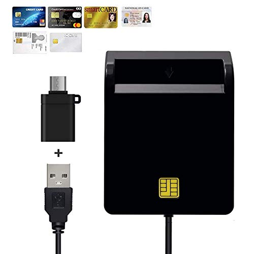 接触型ICカードリーダーライタ ICチップのついた住民基本台帳カード 国税電子申告・納税シ ステム e-Tax、地方税電子手続き等に対応 自宅で確定申告 USB接続 マイナンバーカード、住基カードに対応 、ID/CAC/ATM/Smart ICカードリーダーです USB Type C 変換アダプ付け 日本語取扱説明書