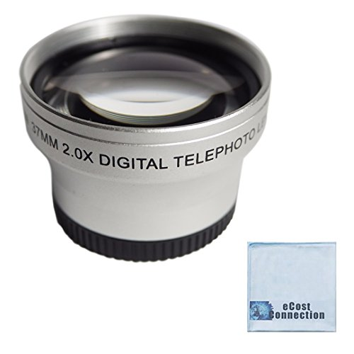 37mm Titanium Telephoto Lens for Sony, Panasonic, Canon, JVC, Samsung, Nikon and Other Camcorders
