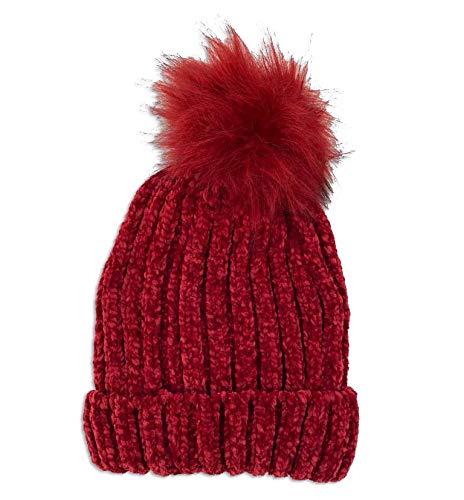 Novadis Berretto invernale da donna, con pompon rosso