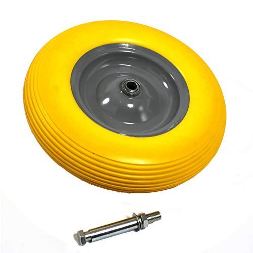 Estexo Home & Garden PU kruiwagenwiel band massief rubber 4.80/4.00-8 Ø400 kruiwagen reservewiel as
