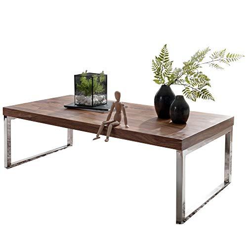 FineBuy Massiver Couchtisch 120 x 60 x 40 cm Sheesham Massiv Holz Tisch | Design Wohnzimmertisch aus Massivholz | Beistelltisch Rechteckig Braun