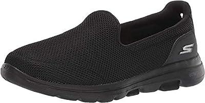 Skechers Women's GO Walk 5-15901 Sneaker, Black, 7 M US