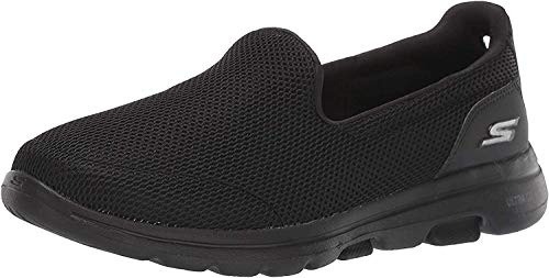 Skechers Women's GO Walk 5-15901 Sneaker, Black, 8 M US