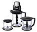 Ninja Blender/Food Processor with 450-Watt Base, 48oz Pitcher, 16oz Chopper Bowl, and 40oz Processor Bowl for Shakes, Smoothies, and Meal Prep (QB1004) (Renewed)