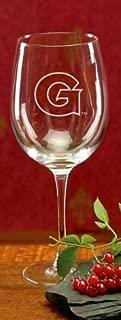 NCAA - Georgetown Hoyas 19 oz Deep Etched Red Wine Goblet