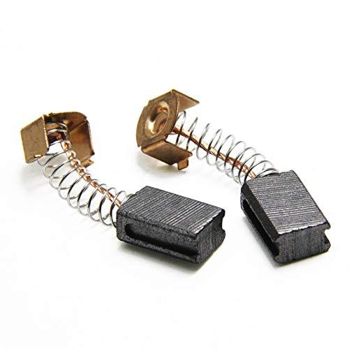 Juan-375 10 Pares de Pinceles de Carbono 5x8x12mm para Black Decker G720 Ángulo Mominder Motor Power Herram Piezas de Repuesto Pieza de Herramienta eléctrica (Color : Black)