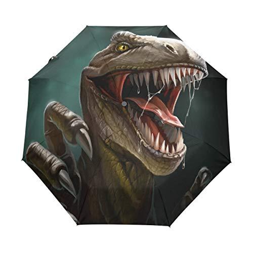 DEZIRO Dino Gevaarlijke Dinosaur Open Mond drie keer Outdoor?Paraplu?auto open Waterdicht