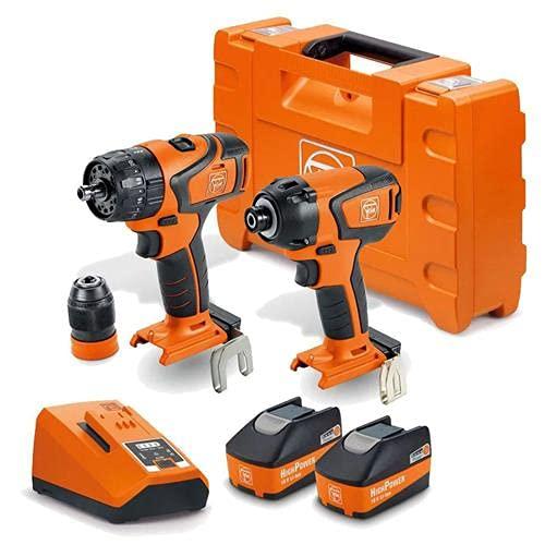 FEIN 18V 2 x 5.2Ah Brushless Combi Drill/Impact Driver Twin Kit 71901861240 ASB18Q-ASCD18W4