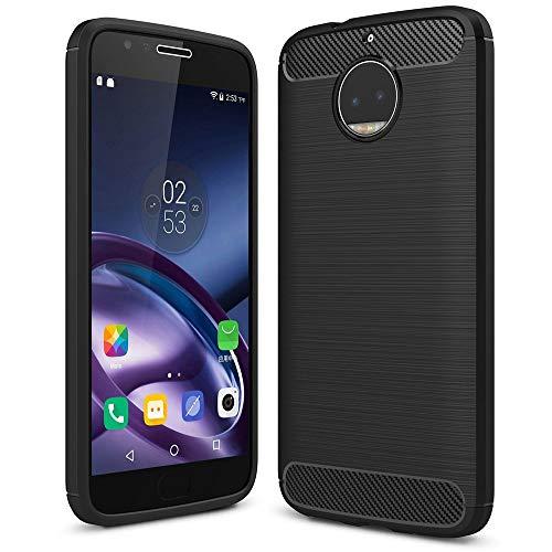 NALIA Custodia compatibile con Motorola Moto G5S Plus, Cover Protezione Ultra-Slim Case Protettiva Morbido Cellulare in Silicone Gel, Gomma Bumper Resistente Telefono Sottile Antiscivolo - Nero