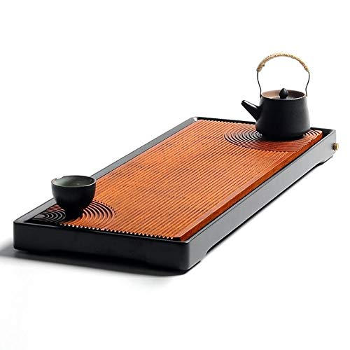 Check Out This HEGUANGWEI Stripe Rectangular Solid Wood Retain Water Tea Tray, Size: 400 x 200 x 450...