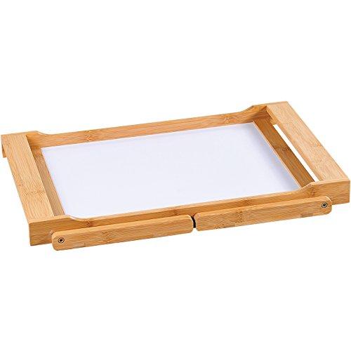 Kesper Tablett mit Klappfüßen, Bambus, Braun, 54.5 x 33 x 23 cm