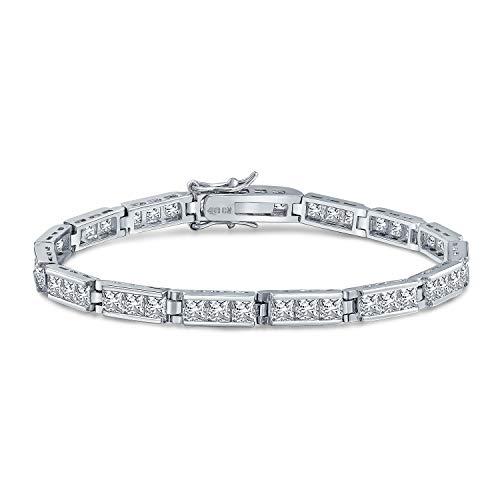 Bling Jewelry Bridal Passato Presente Futuro AAA CZ Bracciale Tennis per Donne per La Fidanzata per Prom Cubic Zirconia Argento 925