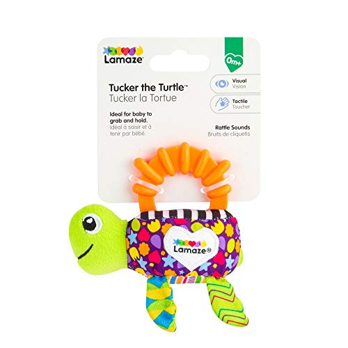 Lamaze Babyspielzeug Lissy Schildkrötenrassel Mehrfarbig, Kleinkindspielzeug, Vereint Rassel und Motorikspielzeug, Fördert Tastsinn, Sensorik und Hörvermögen Ihres Kindes, Beißring, Ab 0 Monaten