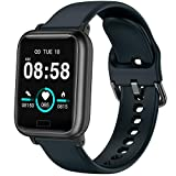 Smart Watch, Fitness Tracker with Heart Rate Blood Pressure Monitor, Waterproof Watch with Sleep Monitor, Calorie Step Counter Watch for Kids Women Men Compatible Android iPhone