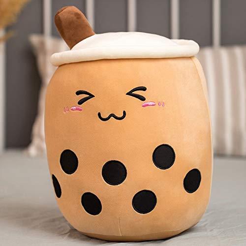ZHAOMIAO Linda Almohada en Forma de Taza de té con Burbujas de la Vida Real cojín Trasero súper Suave Juguetes para niños Regalo de cumpleaños Relleno Divertido Boba 25cm B