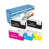 5-Pack Remanufactured Ink Cartridge Replacement for Epson 676XL T676XL 676 XL for use with Workforce Pro WP-4010 WP-4020 WP-4023 WP-4090 WP-4520 WP-4590 (Black x2, Cyan, Magenta, Yellow)
