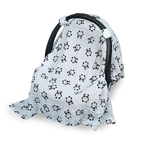 Pinhan Baby Car Seat Canopy Cover Siège de sécurité Parasol Housse de Voiture de Protection Solaire Respirante Coupe-Vent, Panda