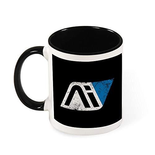 Mass Effect Andromeda Initiative Keramik-Kaffeetasse, Teetasse, Geschenk für Frauen, Mädchen, Ehefrau, Mutter, Oma, 325 ml