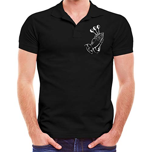 Männer und Herren Polo Shirt Dart Vader (mit Rückendruck) Größe S - 5XL