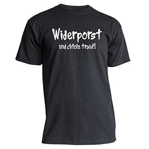 """Nukular T-Shirt """"Widerporst und chtolz trauf!"""", Farbe schwarz, Größe XXXL"""