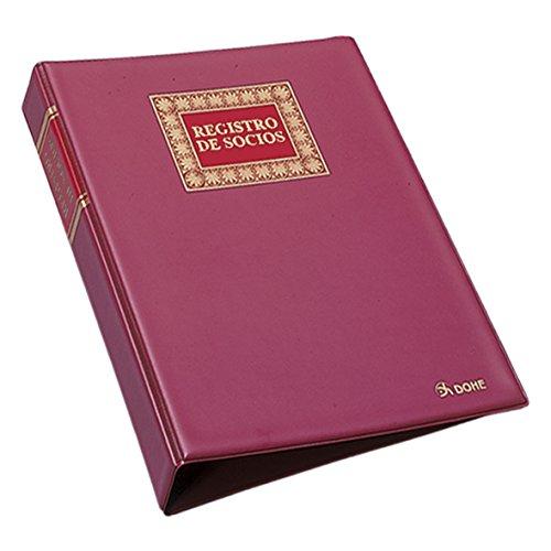 Dohe 9923 - Libro registro de socios con hojas recambiables, 100 hojas, A4 natural