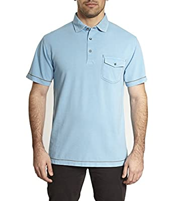 Tadd by Thaddeus Estes Short Sleeve Pique Polo Shirt with Chest Pocket (See More Colors and Sizes)