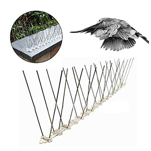 Ouskau Taubenabwehr Spikes Bird Repellent Fence Edelstahl Bird Thorn Outdoor Bird Spikes Kit