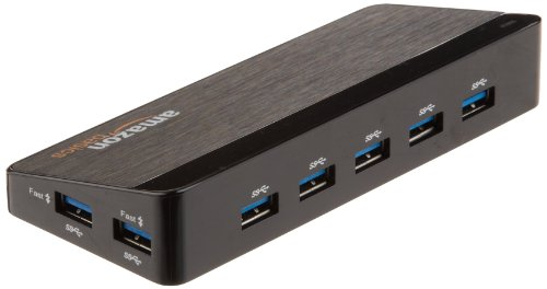 KEEPXYZ 7 Port USB 3.0 Hub with 12V/3A Power Adapter