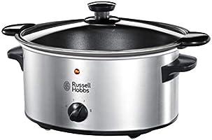 Russell Hobbs Cook@Home Slowcooker, 4 porties (3,5L), Vlees, Vis en Groenten, Incl. Uitneembare Braadpan, 22740-56