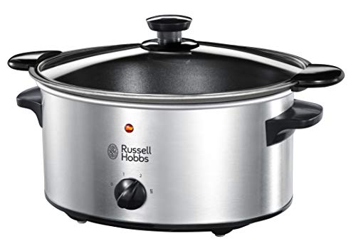 Russell Hobbs Slow Cooker, Schongarer, 3 Temperatureinstellungen, 3.5l, 160 Watt, Cook@Home Slowcooker 22740-56