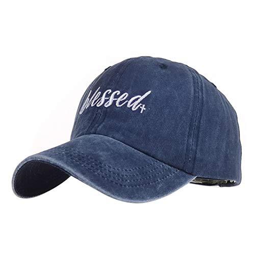 VSDFS Sombreros De Béisbol Bordados De Moda para Hombres Y Mujeres, Gorras De Algodón con Bordes Curvos, Gorras para Hombres Y Mujeres Azul Marino